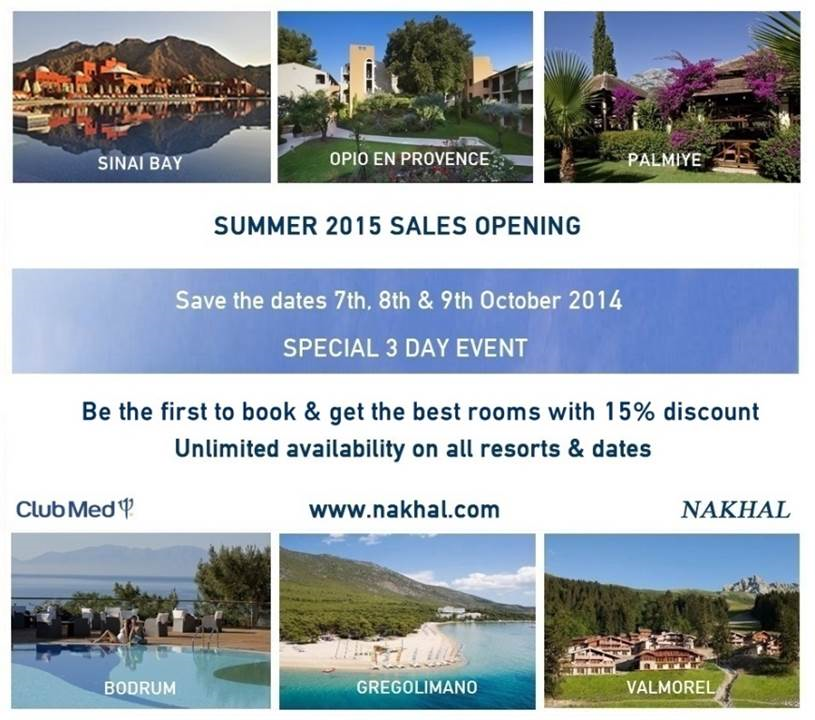 Nakhal Travel - Summer 2015 Sales Opening